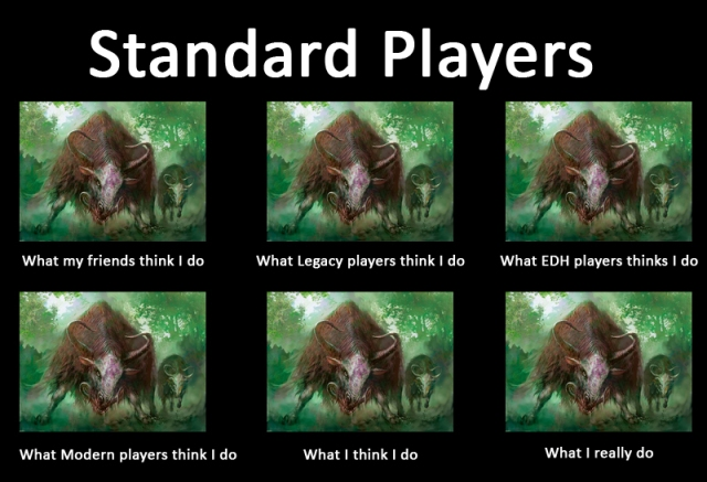 Thragtusk standard players MTG meme what i think i do really do